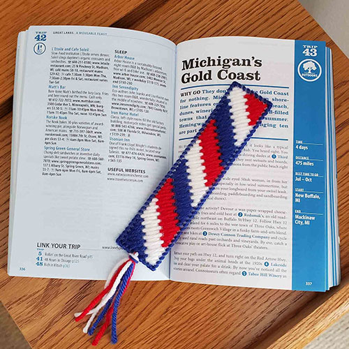 Red, White, and Blue Bookmark